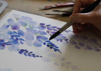Our Watercolour learners in action